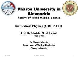 blood flow 5 liter/min, and - Pharos University in Alexandria
