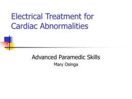 Electrical Treatment for Cardiac Abnormalities ACPF – 1-0