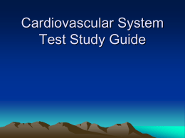 Cardiovascular System Test Study Guide
