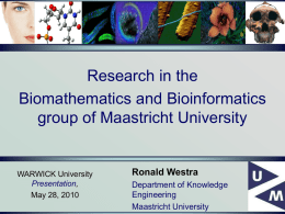 Biomathematics - Maastricht University