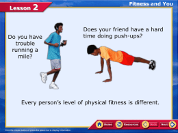 Lesson 2 - Physical Education, Health, and Dance