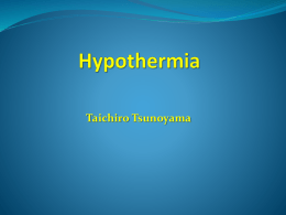 RTC HYPOTHERMIAx - The American Association for the