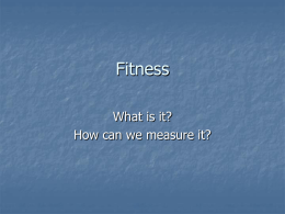 Fitness - Vesey Science