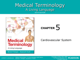 Chapter 5 - The Cardiovascular Systemx