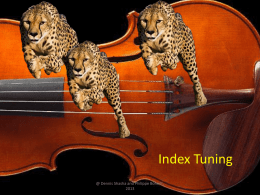 Index Tuning