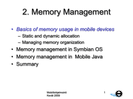 Memory management in Mobile Java