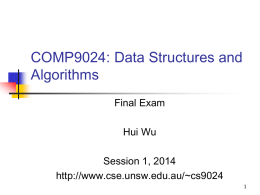 COMP9024: Data Structures and Algorithms
