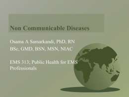 Non Communicable Disease (NCD)