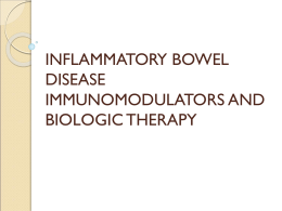 immunomodulators and biologic therapy for inflammatory