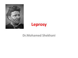Lecture: Leprosy
