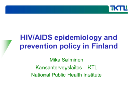 HIV/AIDS policy in Finland