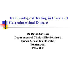 Immunological Testing in Liver and Gastrointestinal Disease