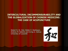 INTERCULTURAL INCOMMENSURABILITY AND THE GLOBALIZATION …