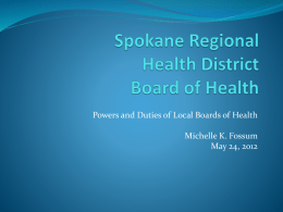 Spokane Regional Health District Board of Health