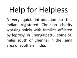 Help for Helpless - United Reformed Church