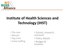 Institute of Health Science and Technology (IHST)