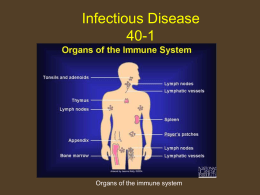 Infectious Disease - Sonoma Valley High School
