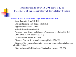 Introduction to ICD-10-CM parts 9 & 10 Disorder`s of the