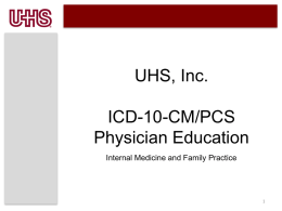 Internal Medicine and Family Practice
