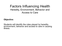 factors influencing aggression Fy 2002-2003 annual report chapter 3 – factors influencing health factors influencing behavior indeed, since many health care interventions occur late.