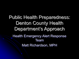 Health Emergency Alert Response Team