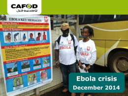 Ebola crisis PowerPoint for secondary schools (ppt , 4mb)