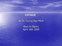 fatigue2009 - Dr. Ngo Minh