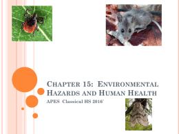 Chapter 15: Environmental Hazards and Human Health