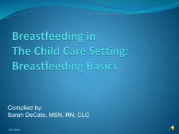 Breastfeeding in The Child Care Setting