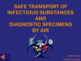safe transport of infectious substances and diagnostic