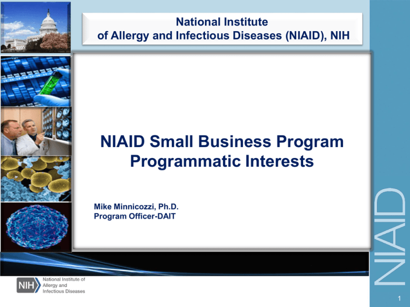 NIAID Small Business Program Programmatic Interests