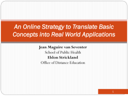 An Online Strategy to Translate Basic Concepts into Real World