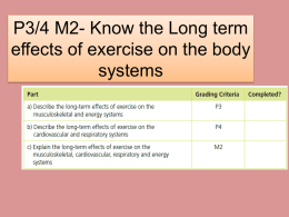 P3/4 M2- Know the Long term systems