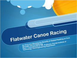 Flatwater Canoe Racing - My FIT (my.fit.edu)
