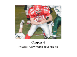 Physical Activity Study Guide