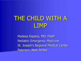 THE CHILD WITH A LIMP