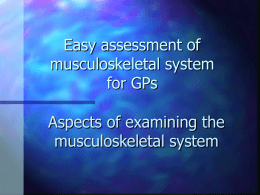 Aspects of Musculoskeletal Examination