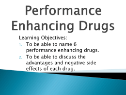 thesis performance enhancing drugs Money has become so important in our society that athletes will use any means to ensure that they advance to the professional level there is an ever increasing pressure among our young and older athletes to be the best.