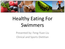 Healthy Eating For Swimmers