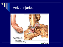 Ankle Injuries - Refugio High School