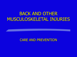 BACK INJURY - Oklahoma City Community College