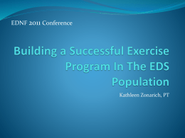 Developing An Exercise Program In The EDS Population