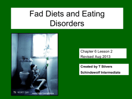 Diets and Eating Disorders