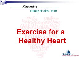 Physical Activity - Kincardine Family Health Team
