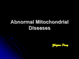 Abnormal Mitochondrial Diseases