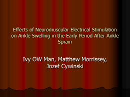 Effects of Neuromuscular Electrical Stimulation on Ankle Swelling in