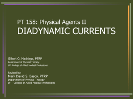 physiologic effects of diadynamic currents