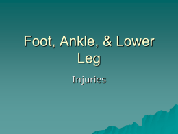 Foot ankle Injuries - Liberty Union High School District