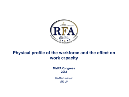 Physical profile of the workforce_THofmann
