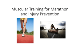 Muscular Training for Marathon and Injury Prevention